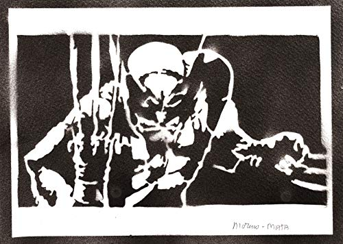 Wolverine Poster X-Men Plakat Handmade Graffiti Street Art - Artwork