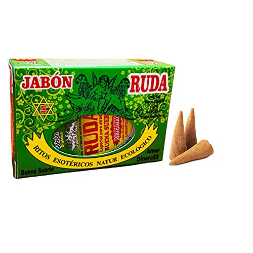 Jabón esotérico Ruda - Regalo 3 conos de incienso DoraZen