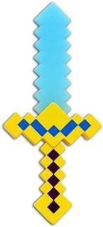 Espada Minecraft 37 Cm Diamante Com Som E Luz
