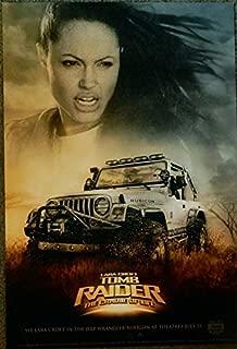 2003 Tomb Raider (Lara Croft) The Cradle of Life Original Movie Promo Poster (Not a Reprint) Jeep Wrangler Rubicon 13.5