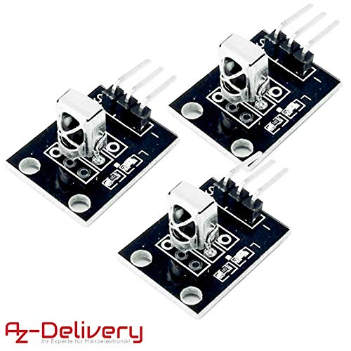 AZDelivery 3 x KY-022 Set IR Empfänger Infrarot Receiver CHQ1838 Sensor Modul für Arduino