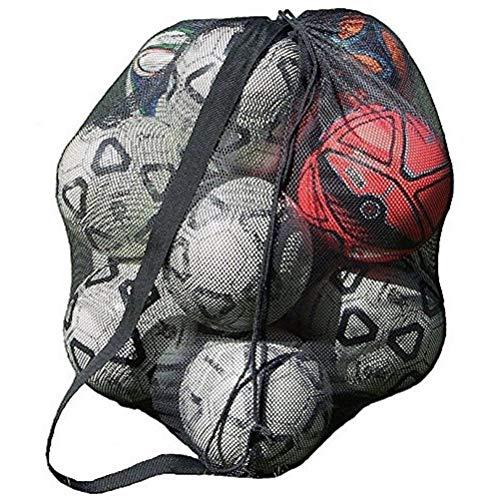 xjS Tarea Pesada 1pc Sports Ball Bolsa con cordón de Gran Capacidad Baloncesto Malla Neta para la institución de capacitación Se Adapta a Interiores y Exteriores (Color : B)