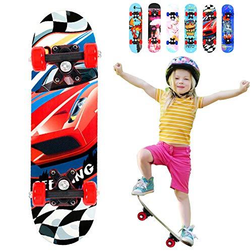 Lesgos Standard-Skateboards für Anfänger, 22inch Complete Skateboards mit 9-lagiger Ahornkonstruktion für Kinder, Jungen, Jugendliche, Anfänger