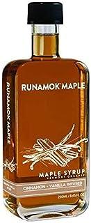 Runamok Maple Cinnamon Vanilla Infused Maple Syrup | Organic Vermont Maple Syrup | 8.45 Fl. Oz | 250 Milliliter
