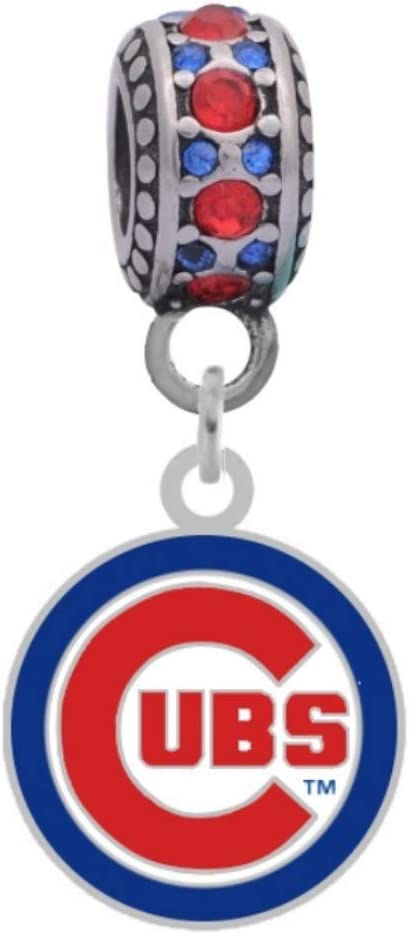 Cubs Logo Charm Fits Compatible With Pandora Style Bracelets
