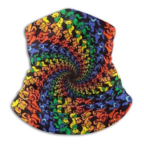 N / A Tie Dye Funny Bears Elastic Moisture Wickin Cubierta De La Cara Customed Pañuelo De Cabeza Durable Cuello Pañuelo Adulto Bandana para Mujer Hombre