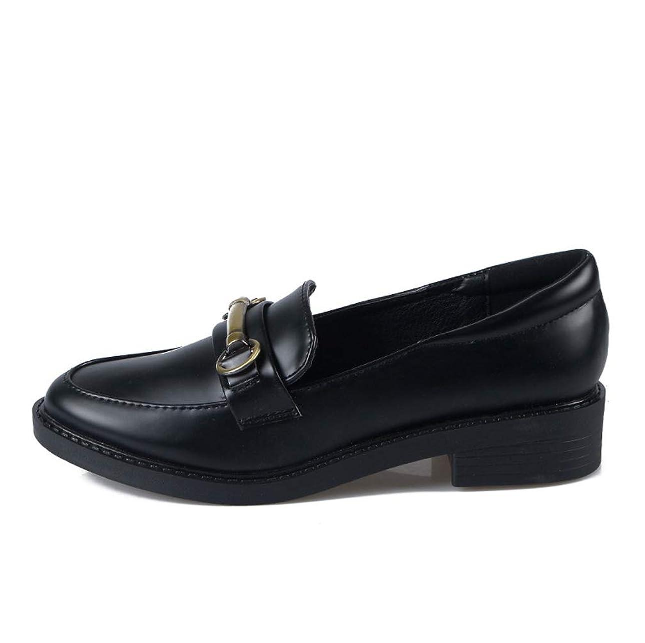 ターミナル力学あなたは[THLD] ローファー パンプス ローヒール ビット付 25cm ママ ペタンコ 靴 レディース靴 ぺたんこパンプス 3.5cm ラウンドトゥ フラットシューズ エナメル シンプル ローファー 黒 秋 ブラック ローヒール 卒業式 入学式 コスプレ