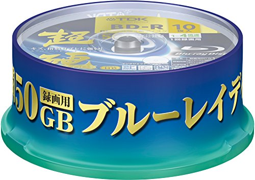 TDK Blu Ray Discs 50 GB BD-R DL 4x Speed High Grade Bluray Dual Layer Spindle