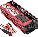 SUDOKEJI 1500W Power Inverter DC 12V to 230V 240V AC Car Converter 12V
