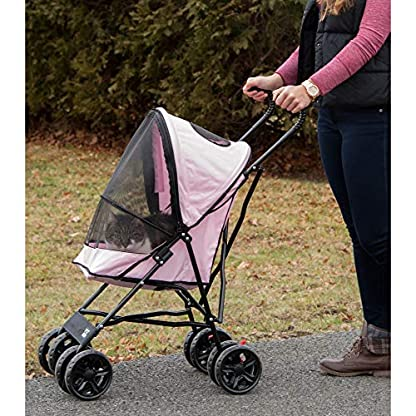 Pet Gear Travel Lite Pet Stroller for Cats and Dogs up to 15-pounds, Pink 5