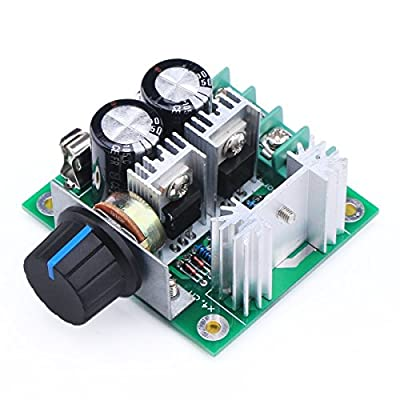 YUNIQUE UK 1 Piece High Efficiency Dc Electric Motor Regulation PLC Governor 12v-40v 10A Pump Pwm Continuously Variable Speed Controller Stepless, Noir Green by Yunique