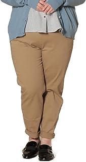 サカゼン LARU 大きいサイズ レディース ストレッチ ウエストドローコード テーパードパンツ
