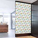 3D Door Sticker Wall Decals Mural Wallpaper Cartoon Farm Animals Pattern with Pig Ro Reusable Erasable for Kids Home Office 23.6 x 78.7 in
