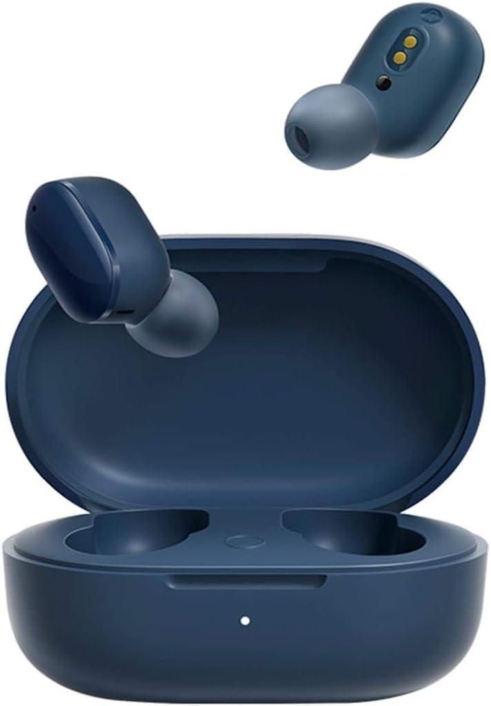 Redmi AirDots 3 Wireless Bluetooth 5.2 Auriculares de carga rápida estéreo Bass con micrófono manos libres Mi auriculares para iPhone (azul)