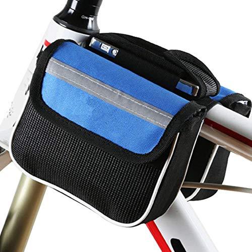 WOOAI Mountain Road Bike Bicycle Front Shelf Grand Sac de Rangement Accessoires de vélo de Cyclisme en Plein air YA88, Couleur: Bleu