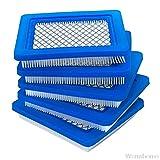 5 Pack 491588S Filtro de Aire, Compatible con Briggs y Stratton 491588, Toro 20332, Craftsman 3364, Mown Premium Cortacésima O20 20 Filtro de Aire