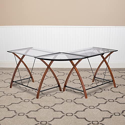 Flash Furniture Glass L-Shape Desk