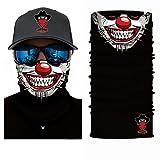 Bandits Team I Bedrucktes Multifunktionstuch I Face Shield aus Mikrofaser- fürs Motorrad-, Fahrrad- und Skifahren I Farbe: Clown2 I 1er Pack