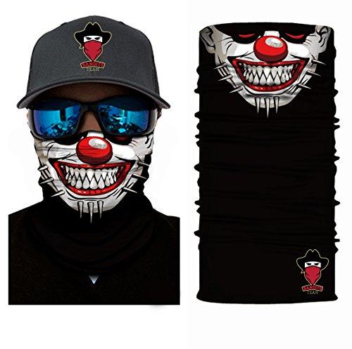 Bandits Team - Bandana mit Motiv - Schlauchschal aus Mikrofaser- fürs Motorrad-, Fahrrad-, Skifahren oder Angeln I Bedrucktes Multifunktionstuch 1 Stück