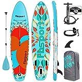 FBSPORT Planche de Sup Gonflable, Stand Up Paddle Gonflable, Planche de Paddle Gonflable, Kit avec Pagaie Réglable, Pompe Pression | Sup Planche: 320x80x15cm
