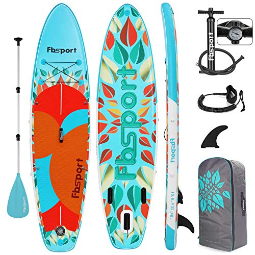 FBSPORT Sup Hinchable, 15cm de Espesor Tabla de Surf Sup Paddleboard, Tabla Inflable de Paddle Surf, Set de Sup con Tabla y Accesorios (New Green)