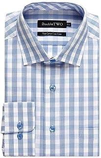 Double Two Camisas de algodón puro para hombre de tamaño grande (AW20)