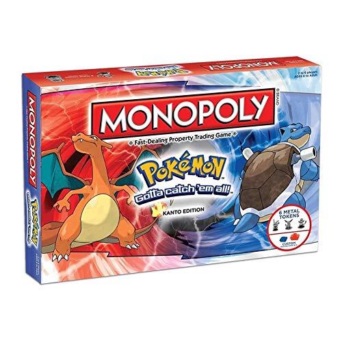AIMAISEN Pokemon Monopoly Juego de Cartas de Mesa Pokémon Monopoly Deal Strategy Cards Game Toy Family Adult Gathering Party Gift para Mayores de 8 años ?2-6 Jugadores? Versión en inglés