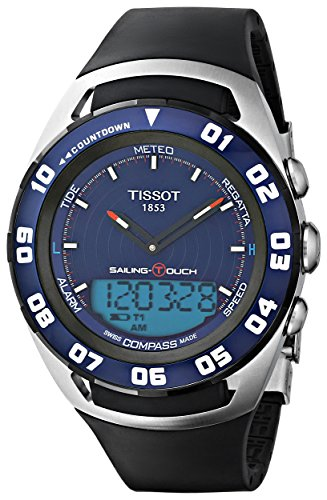 Tissot Sailing-Touch Mens Blue Face Multi-Function Watch T056.420.27.041.00