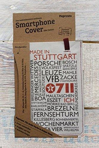 Paprcuts Smartphone Cover (Small) - Stuttgart: Federleicht, reißfest, wasserfest, recyclebar