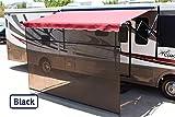 Shade Pro Vista Shade - RV Awning Sunscreen 85% Solar Mesh (17' x 9', Black)