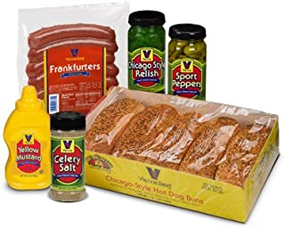 Vienna Beef - Natural Casing Chicago Style Hot Dog Kit 10 PACK