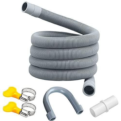 Manguera de desagüe,tubo de desagüe,Kit de extensión de manguera,Prolongación del tubo de desagüe,kit de extensión de la manguera de desagüe de la lavadora,Universal manguera de drenaje (1 metro)