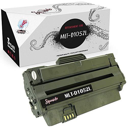 Squuido Cartucho de tóner MLT-D1052L Compatible para Samsung SCX-4623FN ML-1910 SCX-4623FW SCX-4623F ML-2525W SF-650 ML-2580N ML-1915 SCX-4600 ML-2525 ML-2545 ML-2540   Alto Rendimiento 2500 páginas