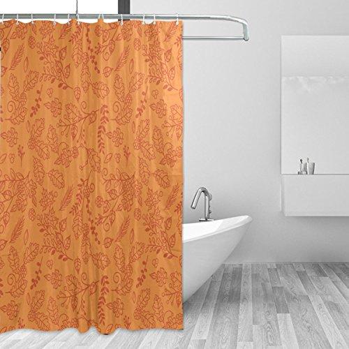 JSTEL Thanksgiving-Duschvorhang, schimmelresistent, wasserdicht aus Polyester, extra lang, 72x 72Zoll, für Badezimmer, Dusche, Bad-Duschvorhang, mit 12Haken