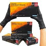 Guantes desechables ARNOMED negros, guantes desechables S, 100 unidades/caja, sin polvo y sin látex, guantes de nitrilo, guantes disponibles en talla S, M, L y XL