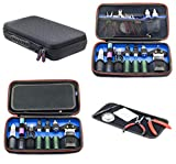 Vape Case For e Cig Vaping Tools Batteries Coils Tanks Box Mods Juice Liquid Bottles Accessories Protective Portable Storage Carry Kit Bag - 12 x 7 x 2.5 inches Case Only Accessories Shown For Example