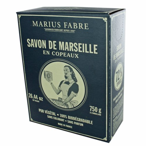 Marius Fabre scaglie di sapone Savon de Marseille Nature (per macchinari e lavaggio a mano), 750G