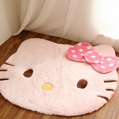 EKEA-Home The of Wool Blend Hello Kitty - Felpudo antideslizante con ventosa, color rosa