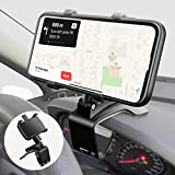 Car Phone Mount, DTRWFNM [Upgraded Version] 360 Degree Rotation Cell Phone Holder Mount for Car Dashboard Clip Desk Stand Suitable for 4 to 6.7 inch Smartphones (Black)