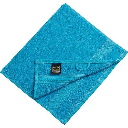 Myrtle Beach - lot 3 serviettes de toilette invité - bleu turquoise - 30 x 50 cm - MB420