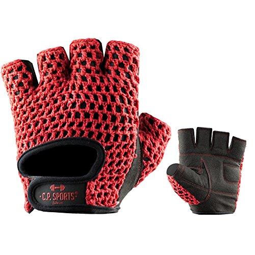 C. p. Sports Gants de Fitness Classique – Couleurs Assorties pour Homme et Femme Rouge S/7 = 16-18cm