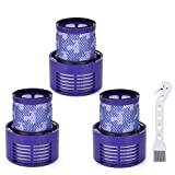 Anicell V10 Replacement Kit for Dyson 3 Pack Replacement Filters for Dyson V10 Cyclone Series, V10 Absolute, V10 Animal, V10 Total Clean, SV12, Replace Part # 969082-01
