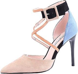 Mujer Amazon Tacón Zapatos De Para esBotones WEHI2D9