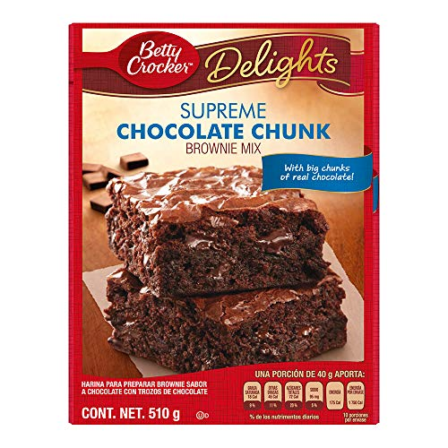 Betty Crocker Chunk Brownie Mix, Chocolate, 510 g