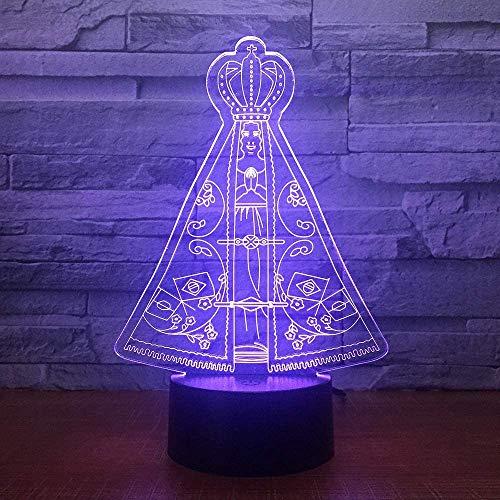 Illusion 3D nachtlampje Magic Tent LED tafel bureaulamp 7 kleuren wijzigen USB Power Touch Switch Decor lamp voor kinderen Kerstmis verjaardagsgeschenk