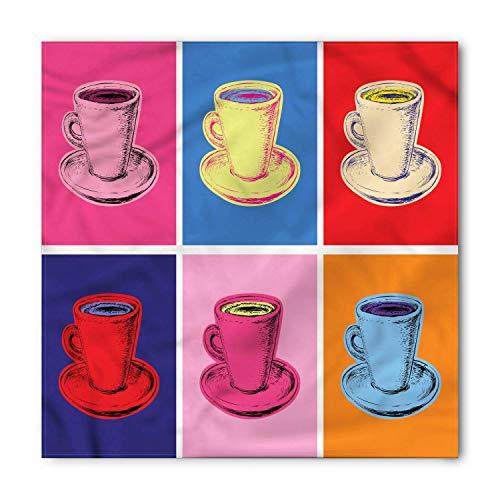 Soefipok Pañuelo de café, arte pop colorido de la taza del vintage,...