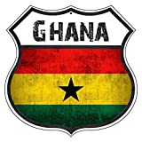 St574ony Vintage Road Tin Signs Ghana Country Nation Flag