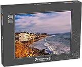 fotopuzzle.de Puzzle 1000 Teile Luxuriöse Häuser am Meer am Strand von Malibu in der Nähe von Los Angeles, Kalifornien (1000, 200 oder 2000 Teile)