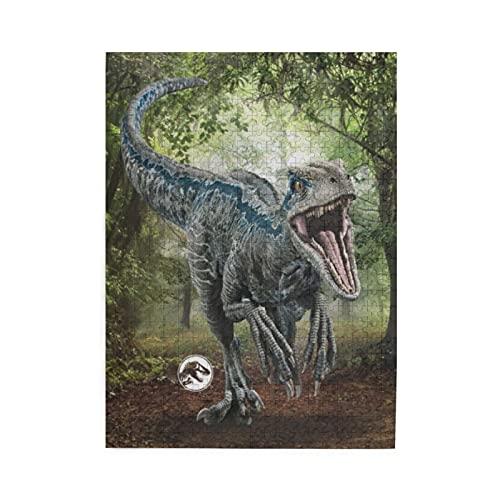 Jurassic World Blue - Puzzle de 500 piezas para adultos, rompecabezas de 500 piezas para adultos, juego de juguetes de regalo