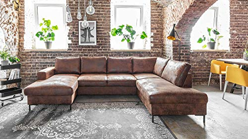 Canapé d'angle 7 places Vintage Confort